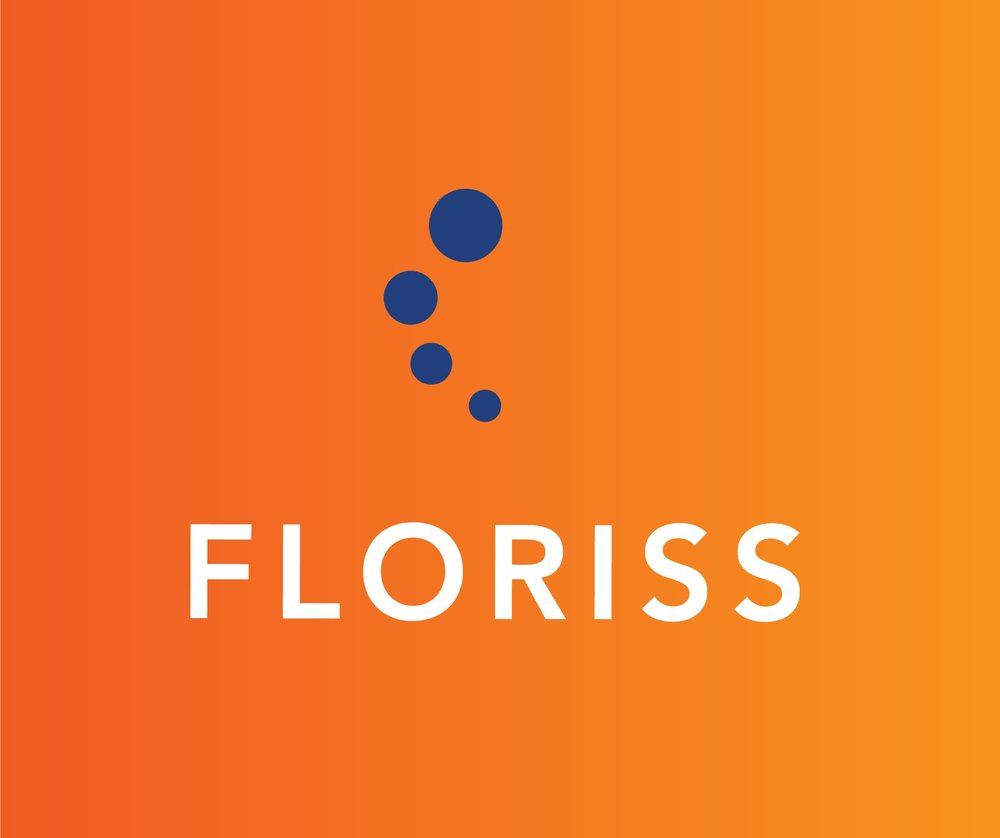 Floriss Group Logo Stacked Orange Background