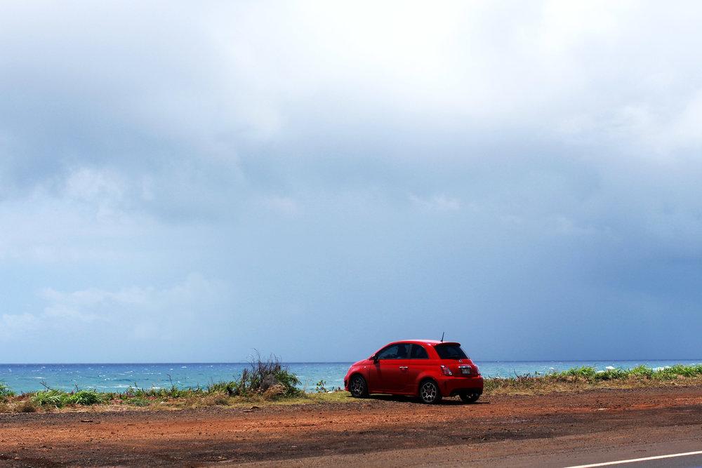 The Red Car,  Kauai, Hawaii
