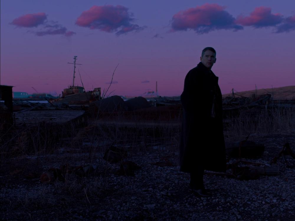 Ethan Hawke as Ernst Toller in Paul Schrader's First Reformed