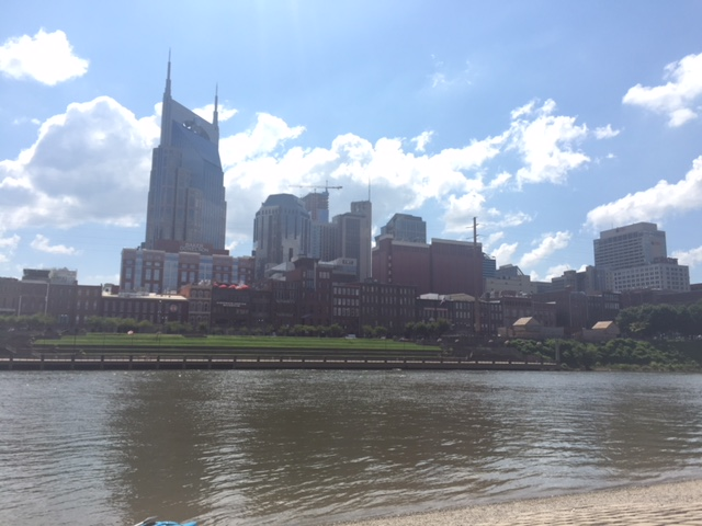 Nashville, TN skyline from the Cumberland River