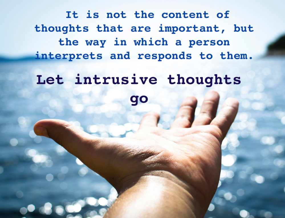 Let thoughts go - online therapy - UK - CBT help