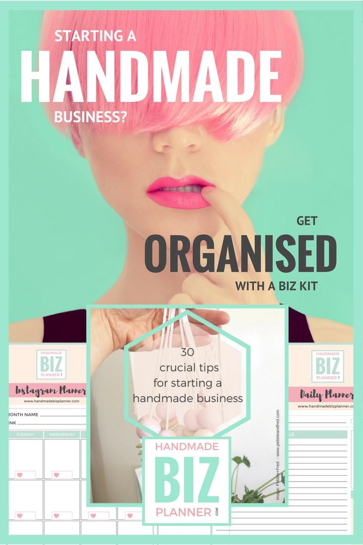 Handmade Biz Planner FREE Handmade Business Kit