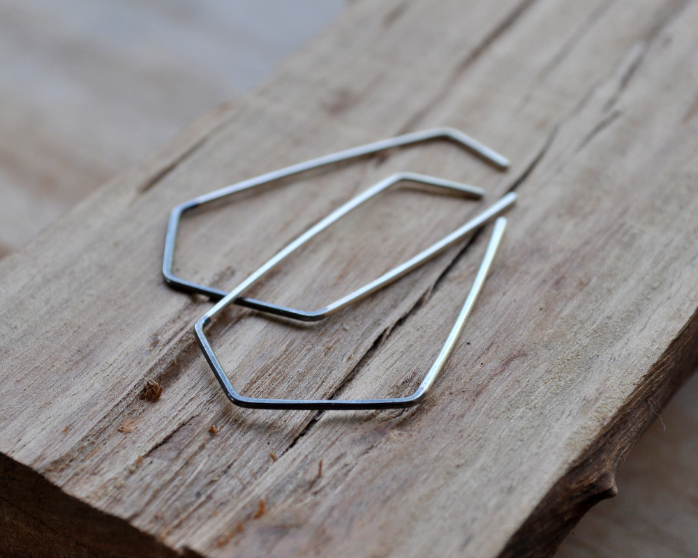 Handmadebizplanner.com-Epheriell-two-tone geo earrings