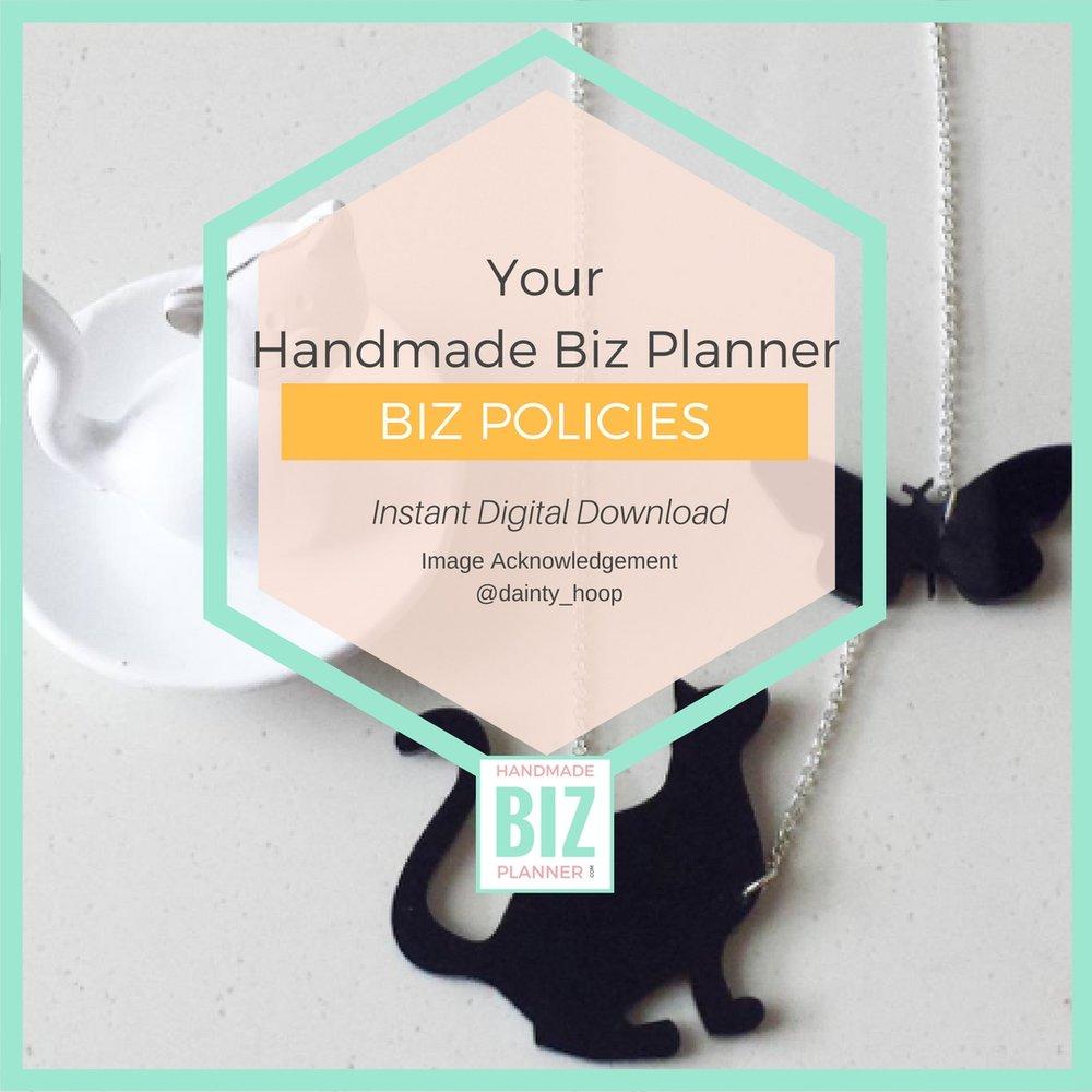 Handmade-Biz-Planner-Biz-Foundations-Biz-Policies