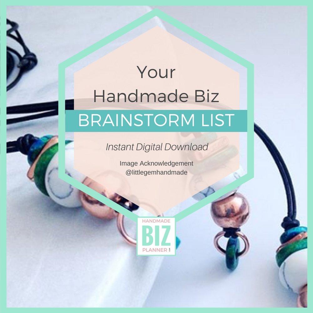 Handmade-biz-planner-brainstorm-list