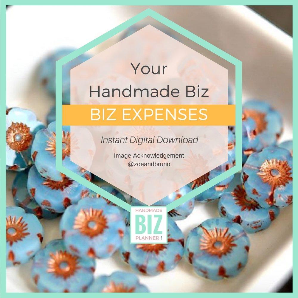 Handmade-biz-planner-biz-expenses