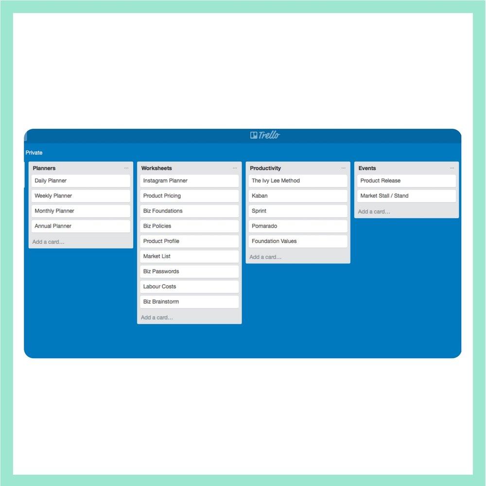 Handmade Biz Planner Library Dashboards