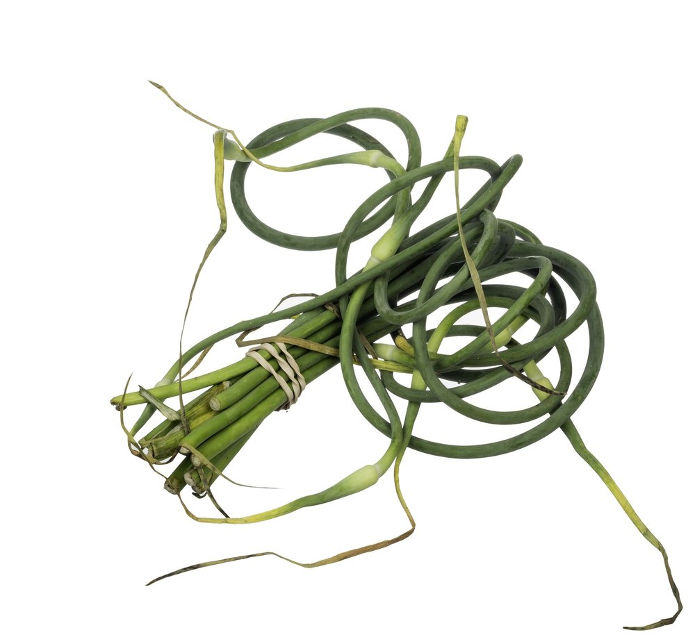 What are garlic scapes? -