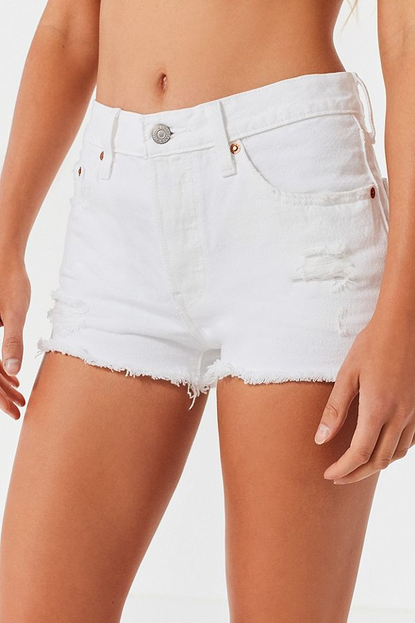501 WHITE CUT OFF SHORTS