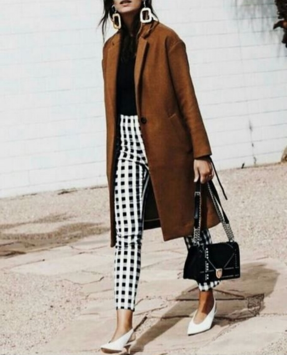 A neutral top is your best bet when wearing bold printed pants.