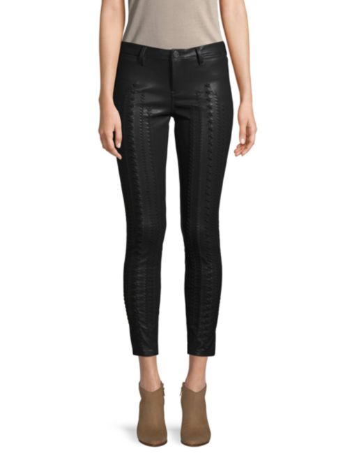 Blank NYC Laced Faux-Leather Pants
