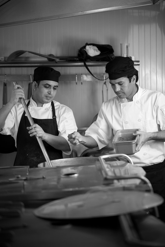 Sous Chefs Trilok and Harendra adding the finishing touch