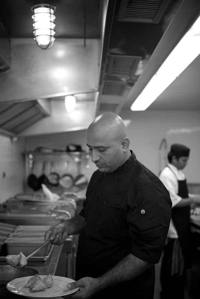 Executive Chef Narayan preparing some tasty Samosas
