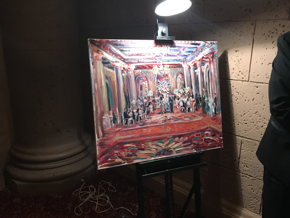 I was amazed by the artist that attended the Old Hollywood event. He painted this during the dinner. Absolutely beautiful! Absolutely talented!