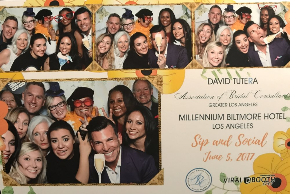Photo booth shenanigans at the cocktail party!