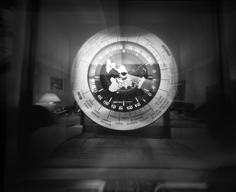Scotland Clock, 100 seconds.  Zero Image 4x5 pinhole.