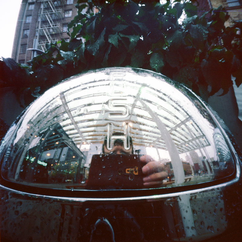 Self-portrait, trash can, 8 seconds. Zero Image 2000 pinhole.