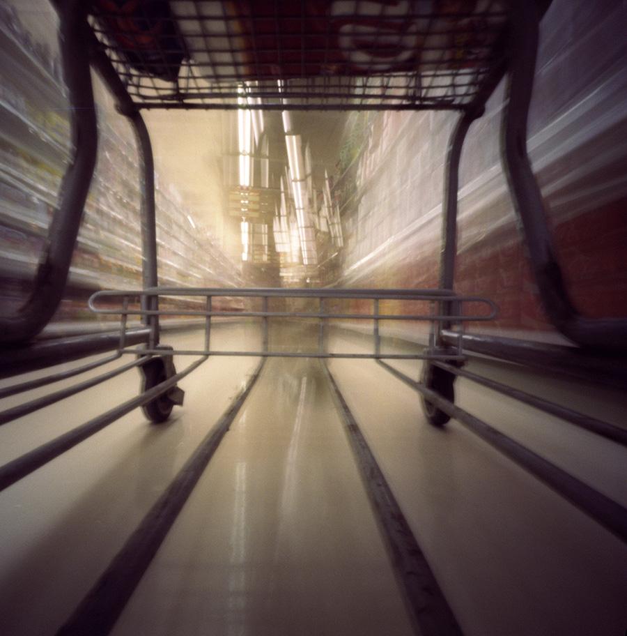 Grocery shopping, slowly. Zero Image 2000, Kodak Ektar 100.