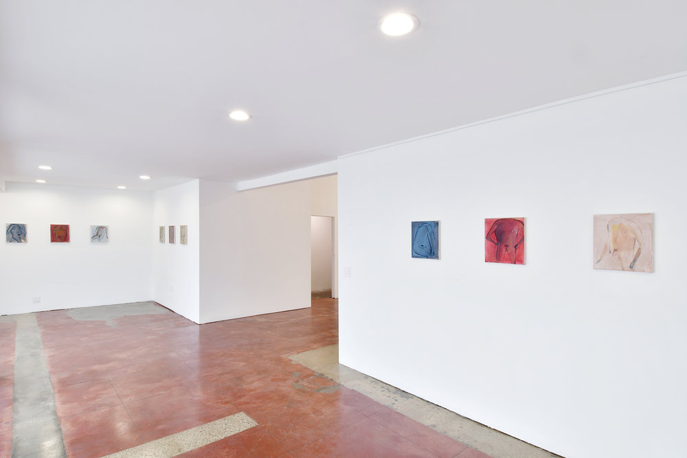 Installation view of Eve Ackroyd's Men of Knowledge