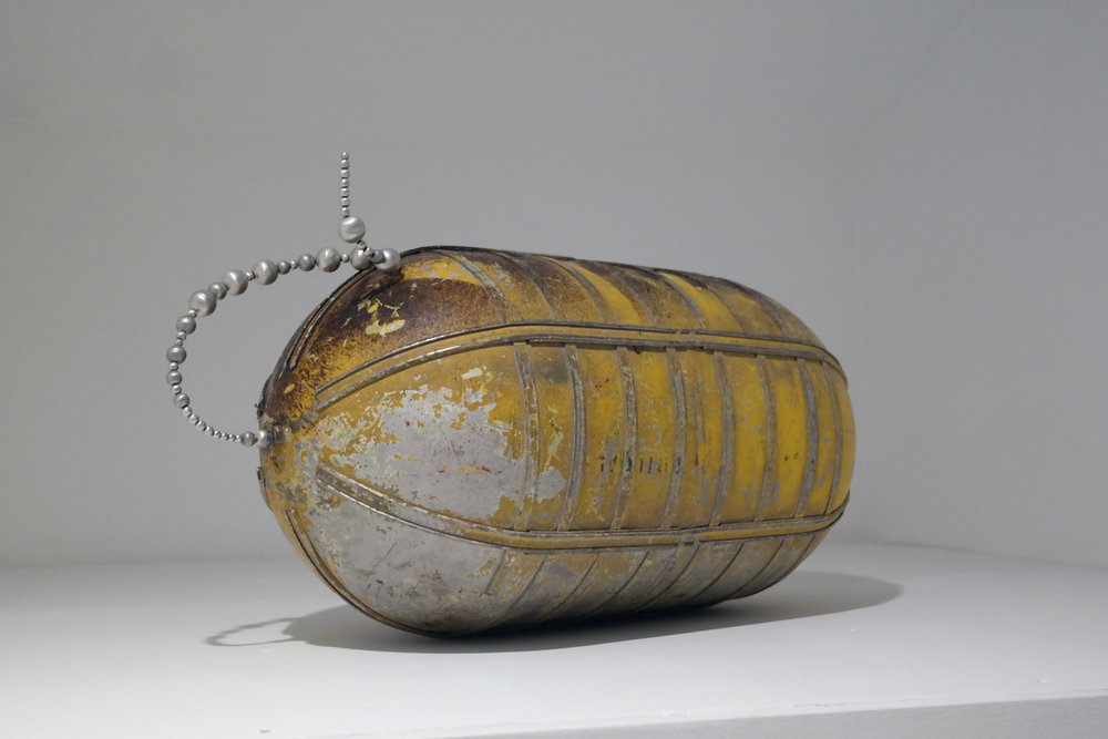 Tank Gas tank, aluminum beads, wire, 2017