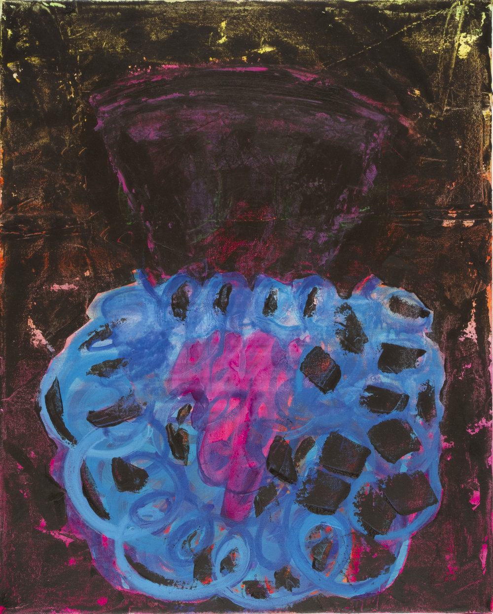 "Anna Schachte,  Bluebeard , 2012, oil, enamel, canvas, 20"" x 16"""