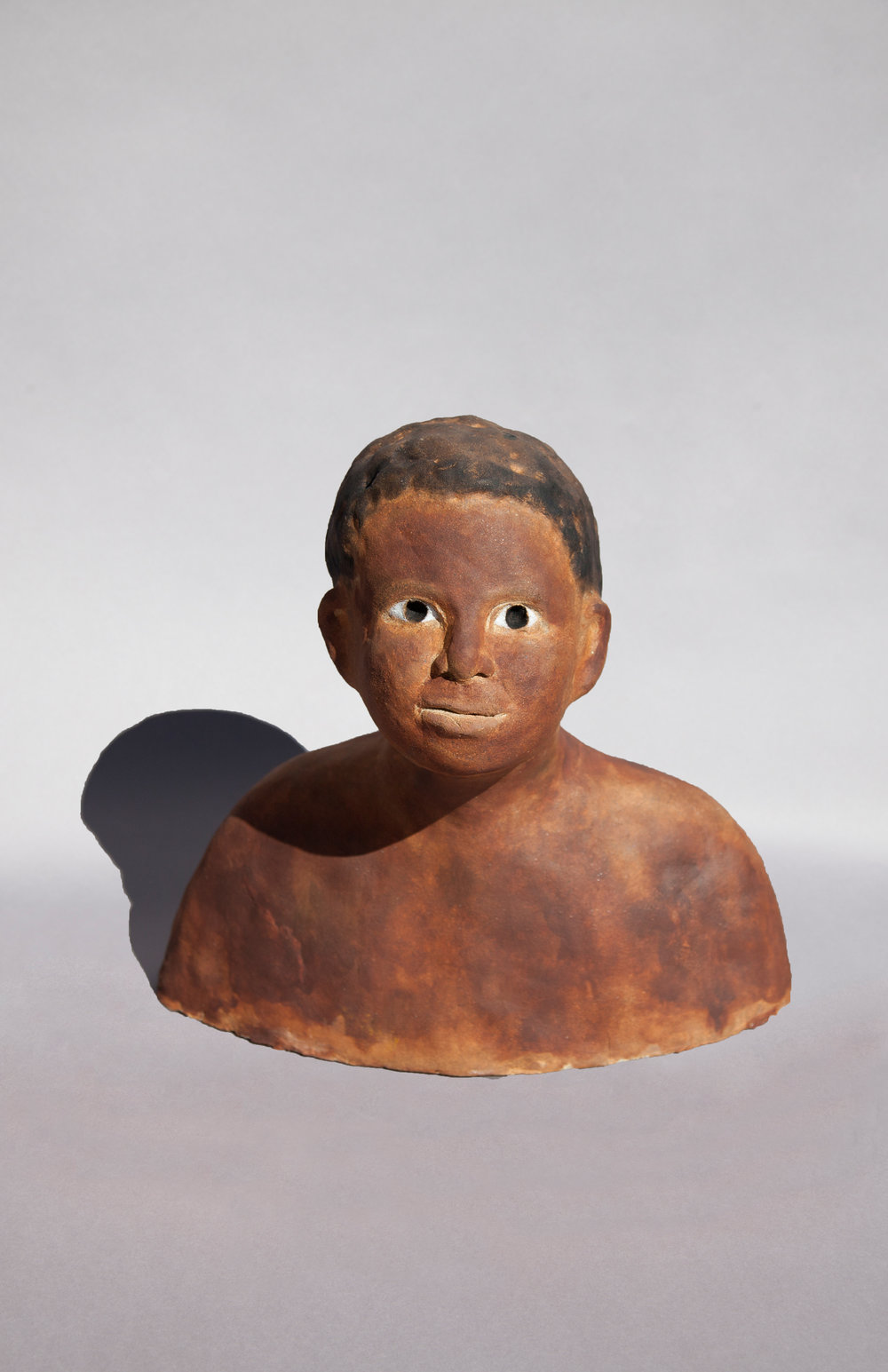 Boy of Sun, Painted Ceramic, 2017 15HX10WX9D