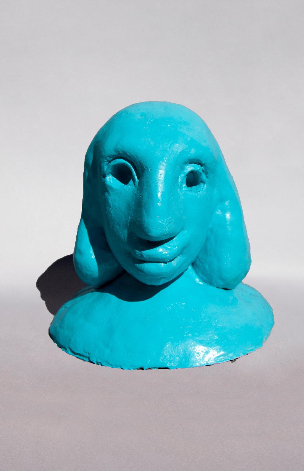 Blue Figure, Painted Ceramic, 14HX14WX14D