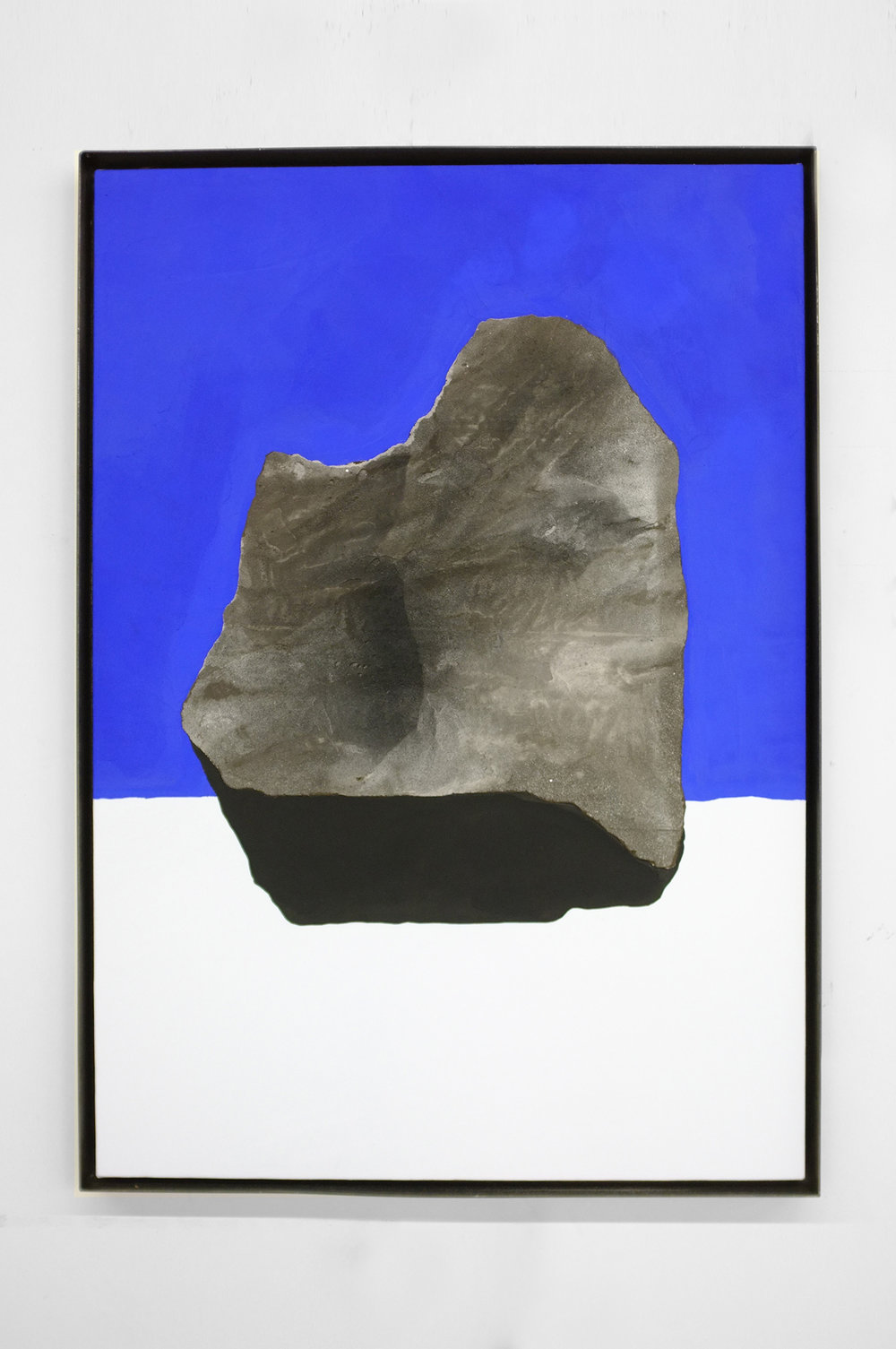 ROCK STUDY (BIG BROTHER)  2017  41 X 29 INCHES  CASEIN, ACRYLIC AND GROUT ON CANVAS OVER PANEL IN STEEL FRAME