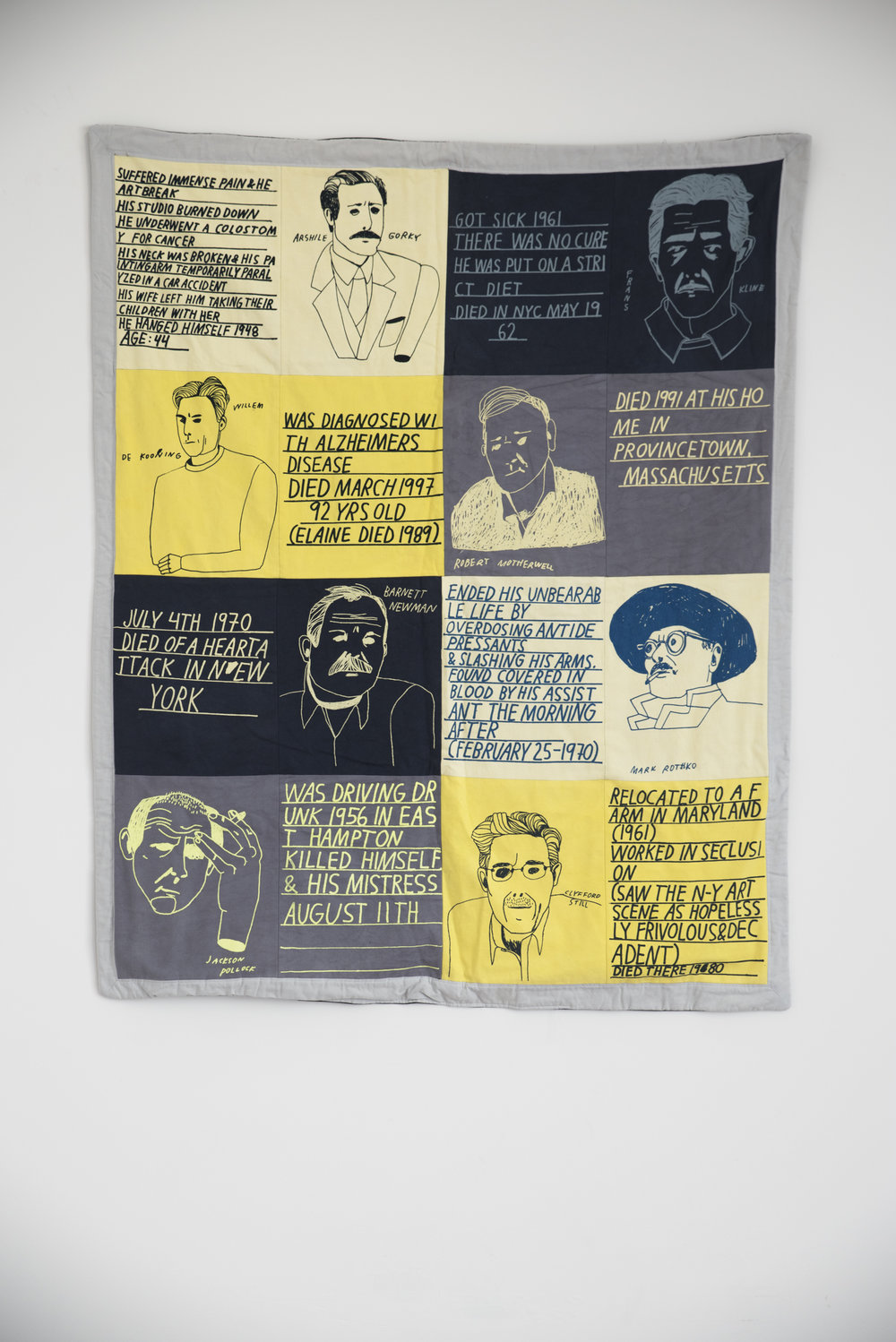 Anna   Nordstrom How   did   they   die? ,   2010 Screen   print   on   cotton