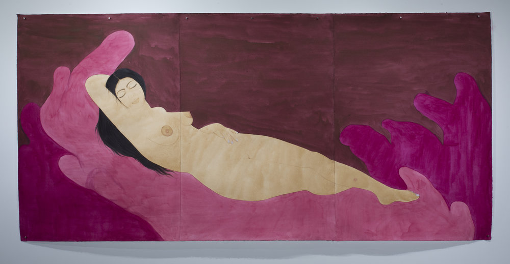 Hiba Schahbaz - Self-Portrait as Sleeping Venus (after Giorgione)