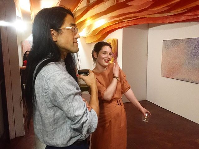 Have you met @lilahslagerrose & @jean_nagai ??? The source of our beautiful exhibition Avalon. 😘😘😘 #jeannagai #lilahslagerrose #avalon #hilde
