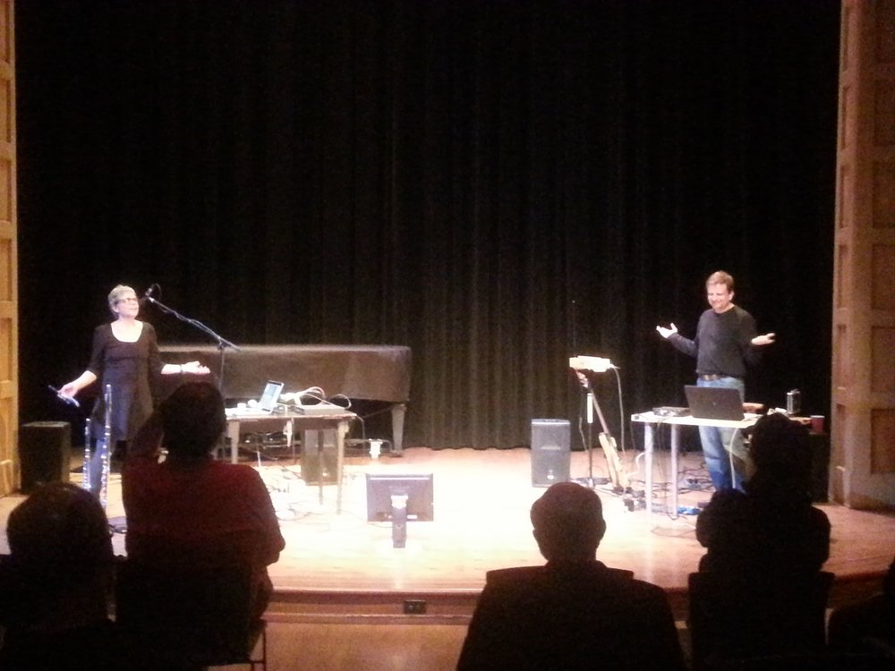 Performing with Anne LaBerge in Seattle (2014)