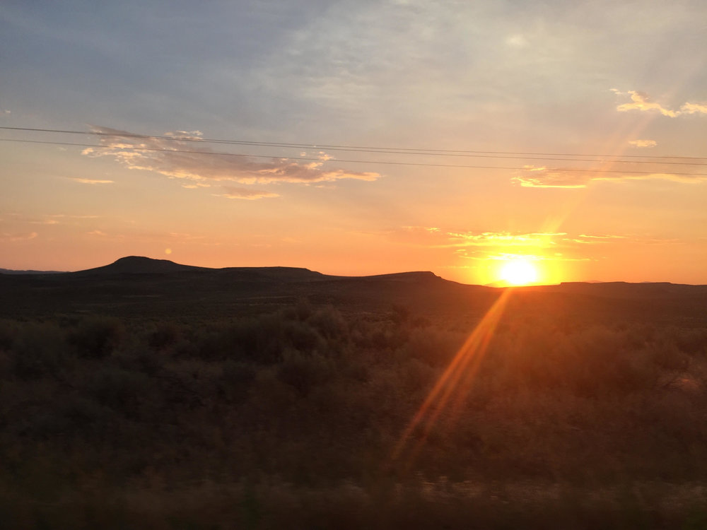 Sunset in southern Idaho - slowly, away.