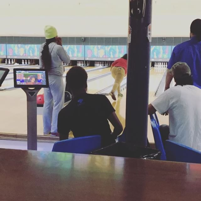 Family Game Night at the bowling alley December 2016