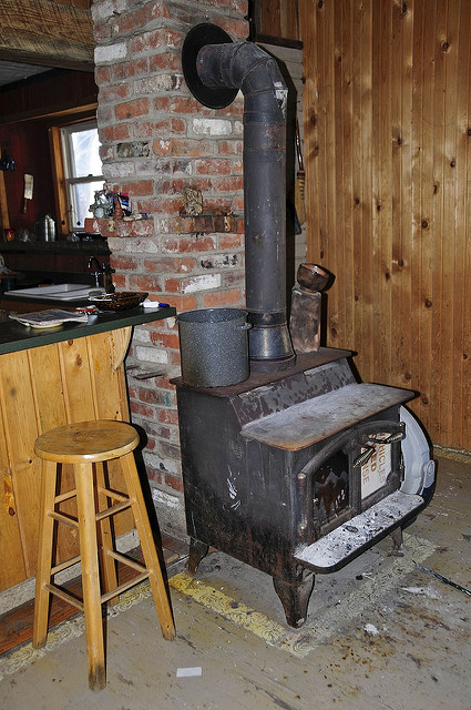 A wood burning stove  Photo:  Valerie Everett