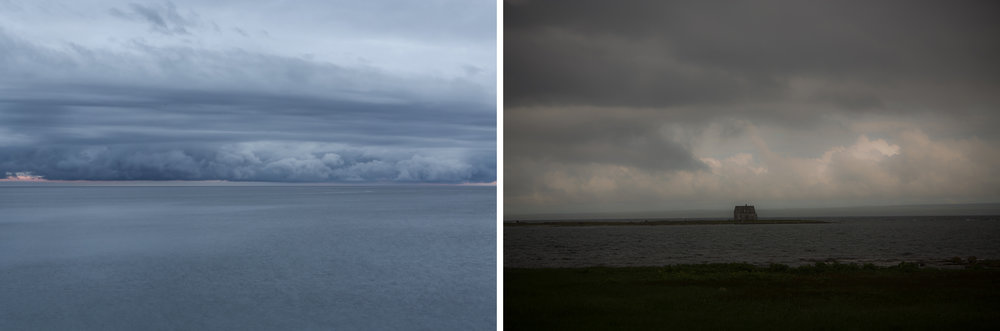 Clouds in Placentia Bay; Lighthouse-keepers house, River of Ponds