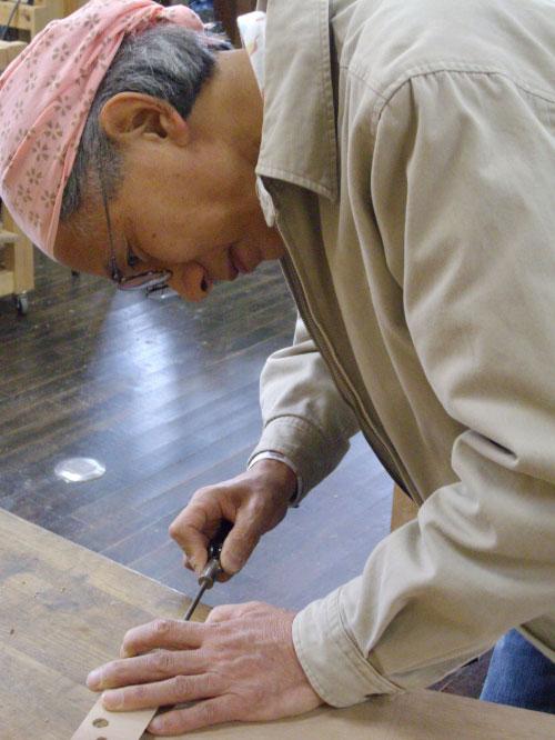 Master craftsman Osamu Shoji