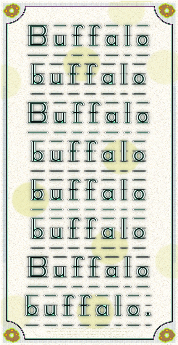 Buffalo 8X - after Dmitri Borgmann