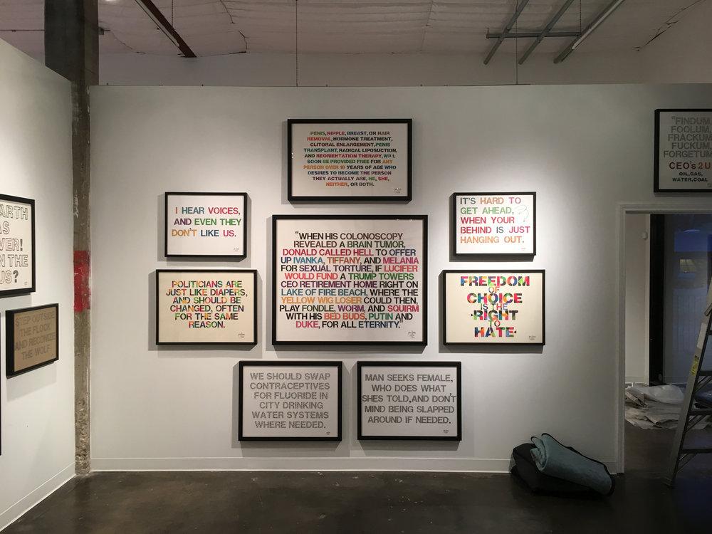 Jim Roche Exhibit Bale Creek Allen Gallery, January, 2017