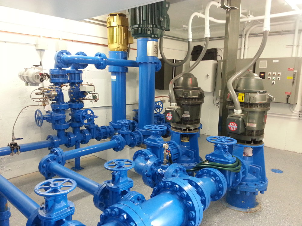 Recently upgraded high efficiency Blackhawk Booster Pump Station.