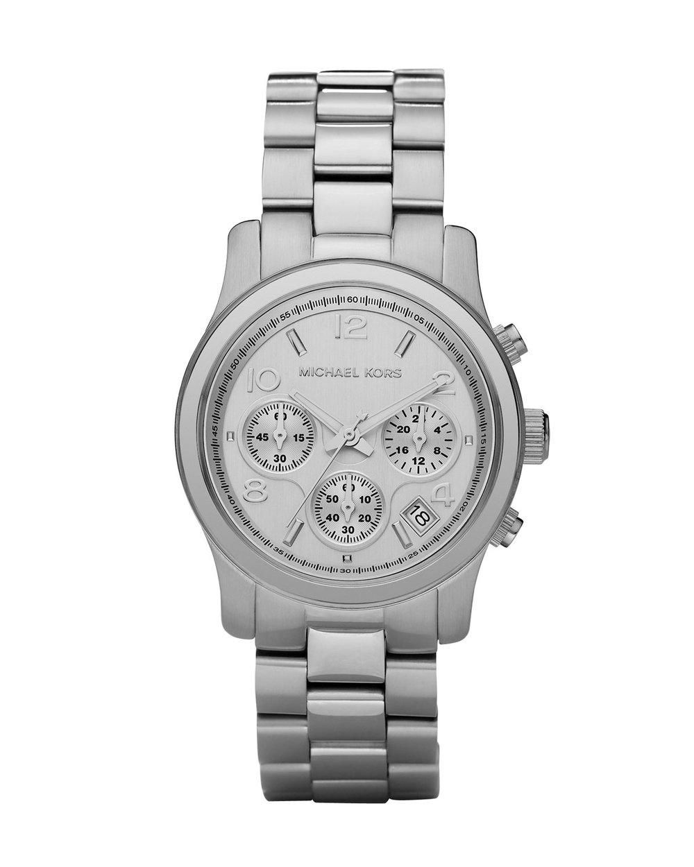 Michael Kors Michael Kors Silver-Tone Runway Oversized Watch