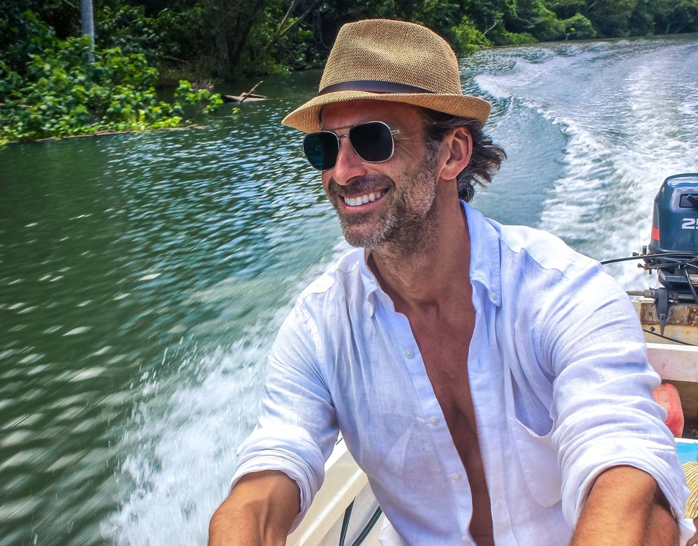 Ryan Young Boating Up Cuba River
