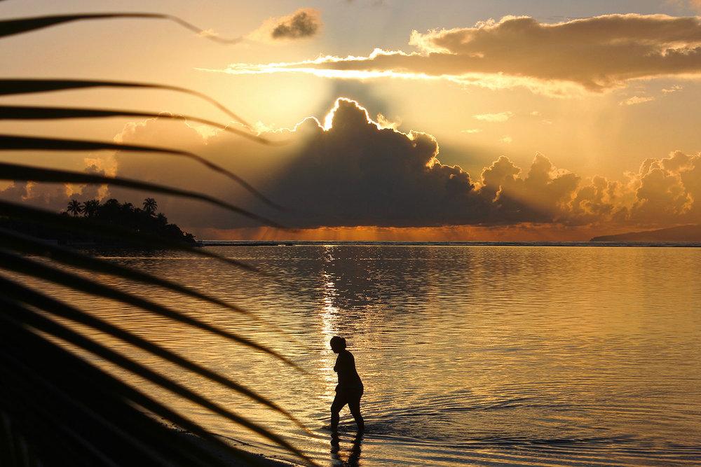 Tahiti Sunrise Woman
