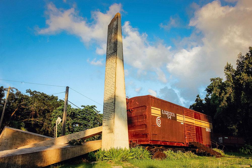 The Tren Blindado. Designed by José Delarra. Santa Clara, Cuba.