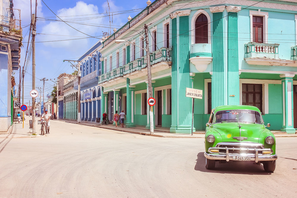 Colon City Street Cuba