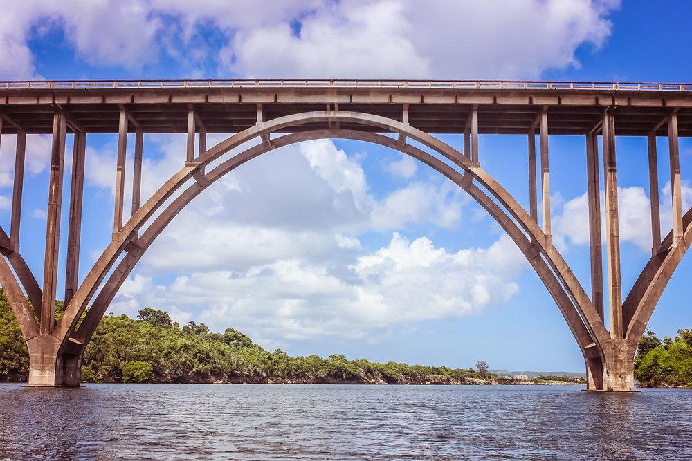 Bridge along Via Blanca, Cuba