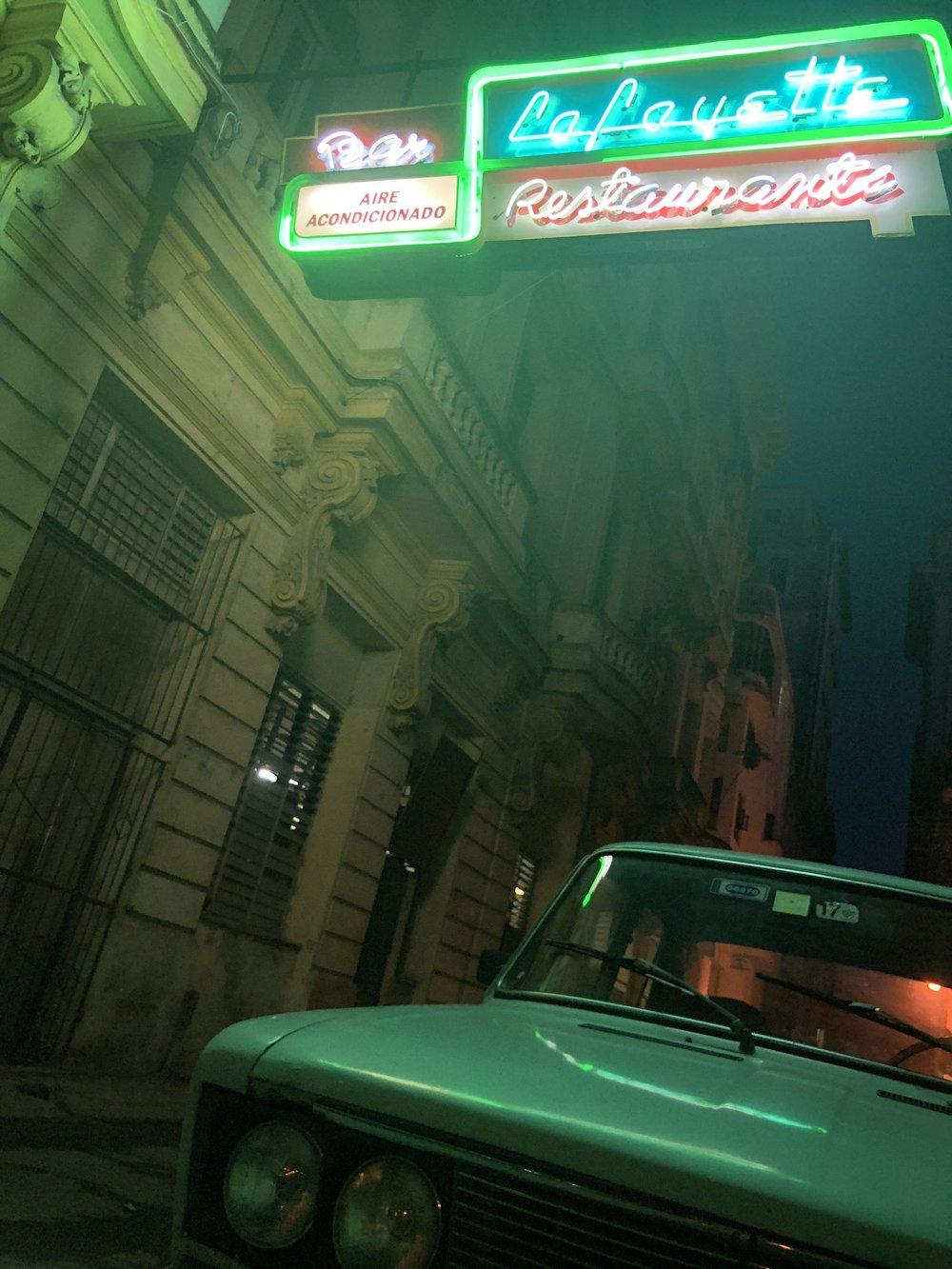 Havana Neon at Night