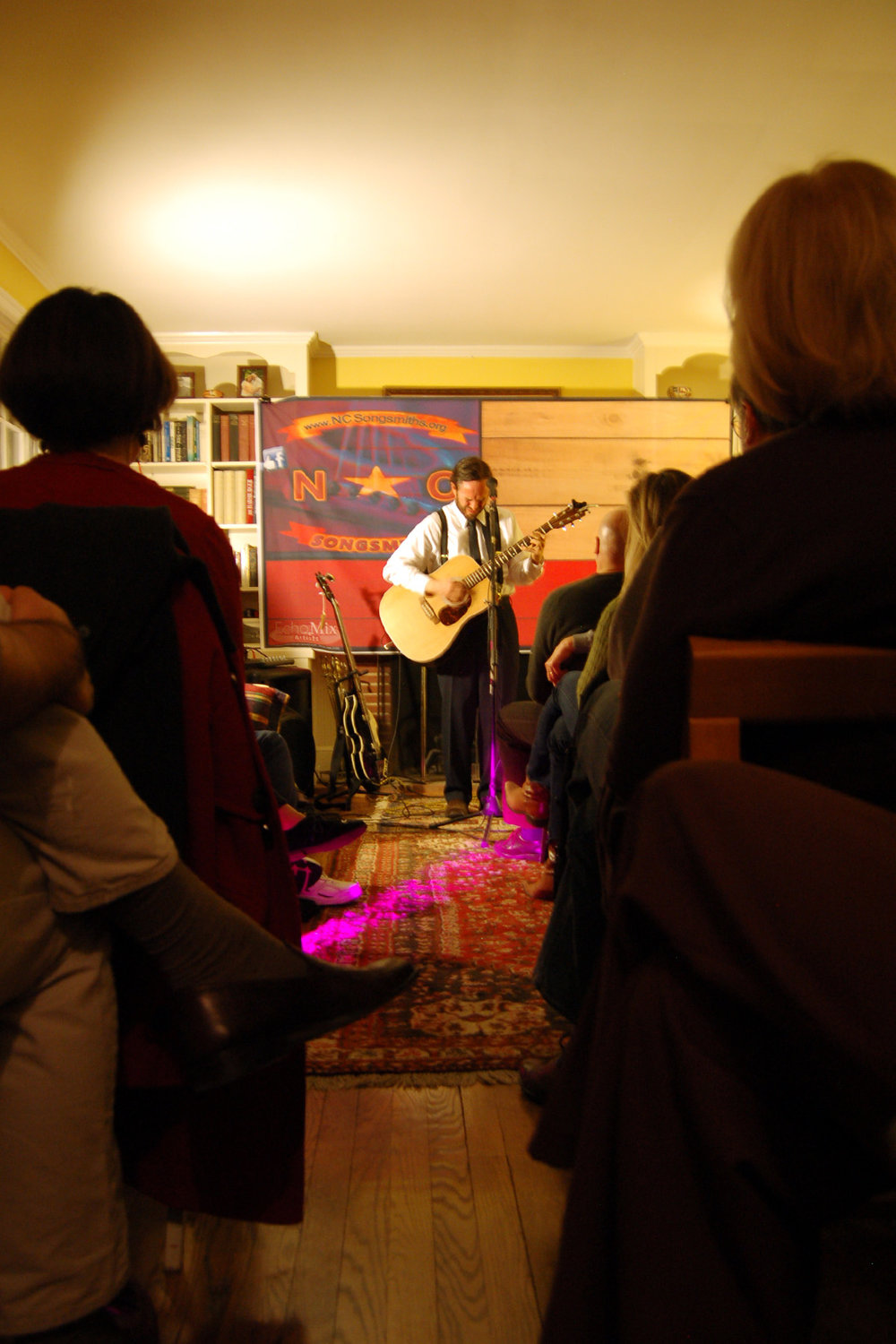 ManGoBe looking sharp at a House Concert In DC