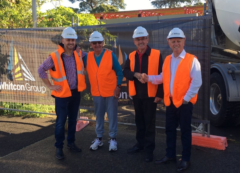 PHOTO: (L to R): ROBERT WHITWORTH - WHITCON CONSTRUCTIONS, RON PEARCE - BUNDEENA RSL MEMORIAL CLUB MEMBER, BARRY WATKINS - GENERAL MANAGER, CABRAMATTA BOWLING & RECREATION CLUB, GRAEME KELLY, PRESIDENT - BUNDEENA RSL MEMORIAL CLUB