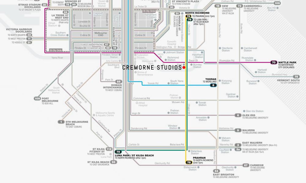 Tram Map::
